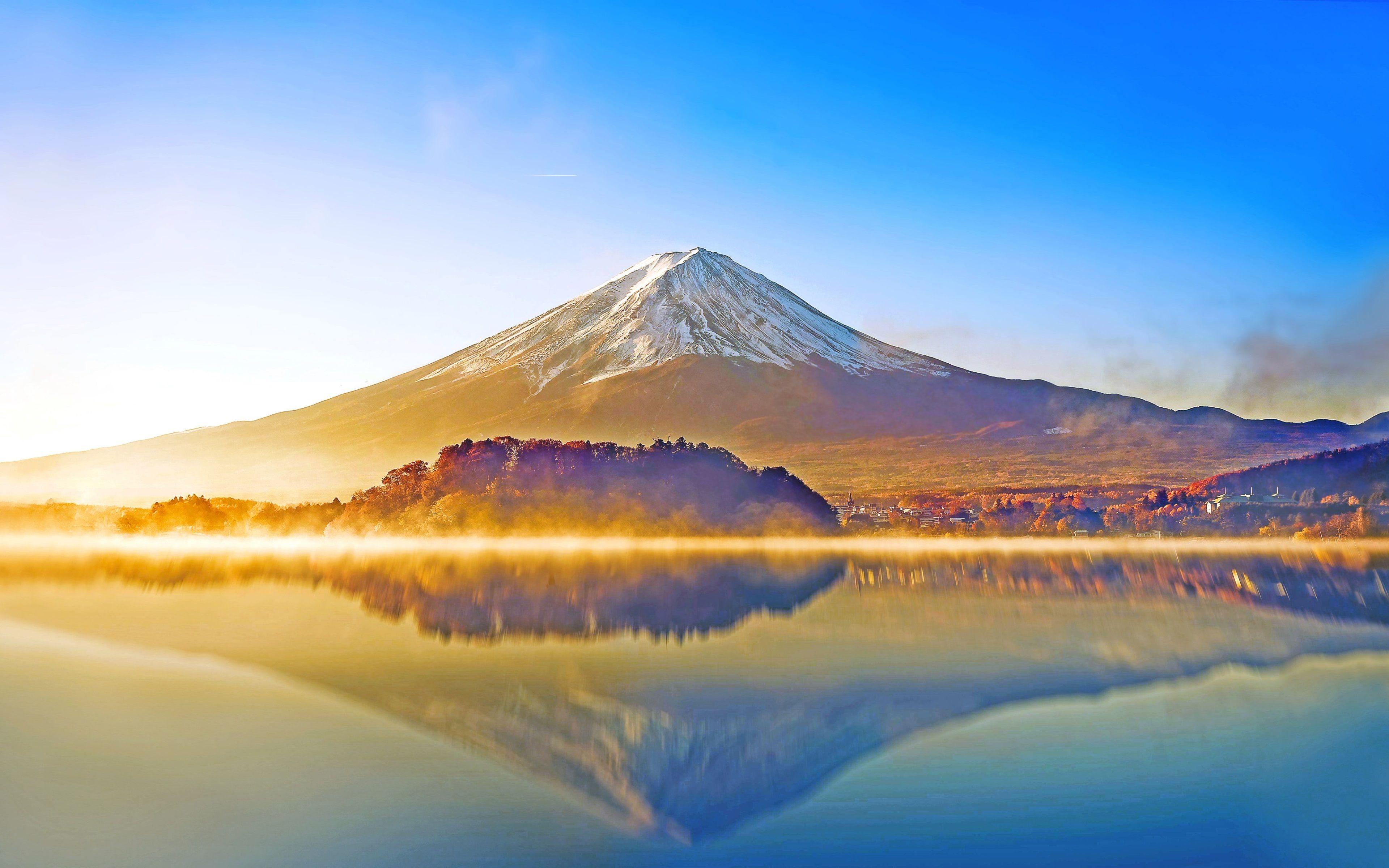 3840x2401 Mount Fuji 4k Wallpaper Ultra Hd Landschaftsmalerei
