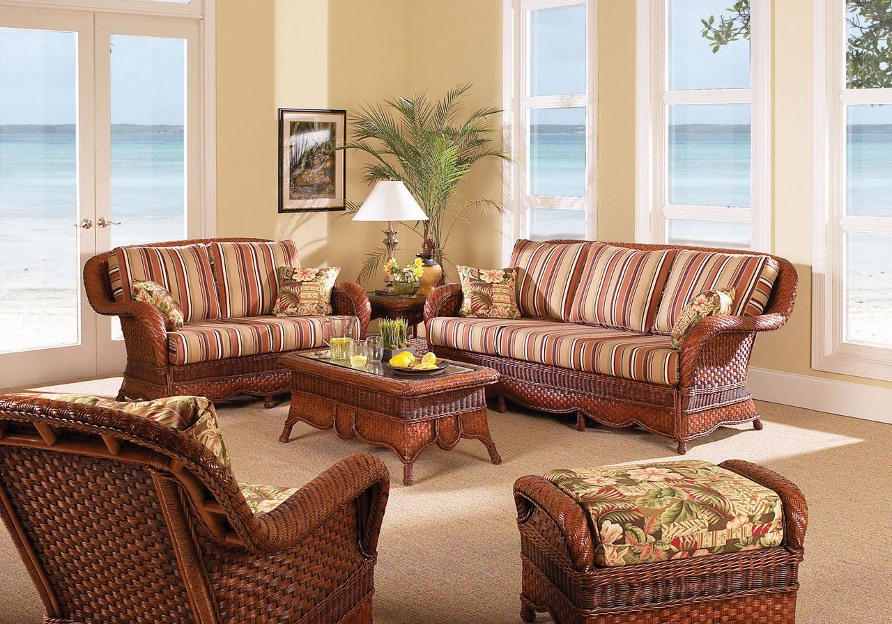 South Sea Rattan Autumn Morning Indoor Wicker Living Room Set