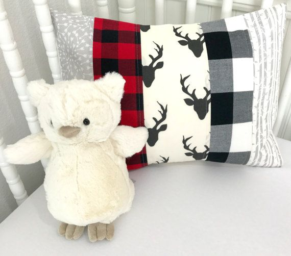 Pillow Cover, Woodland Nursery Decor, Lumberjack, Buffalo