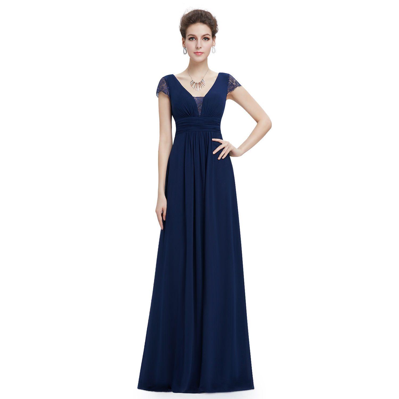 Ever pretty womenus long formal evening dresses elegant short sleeve