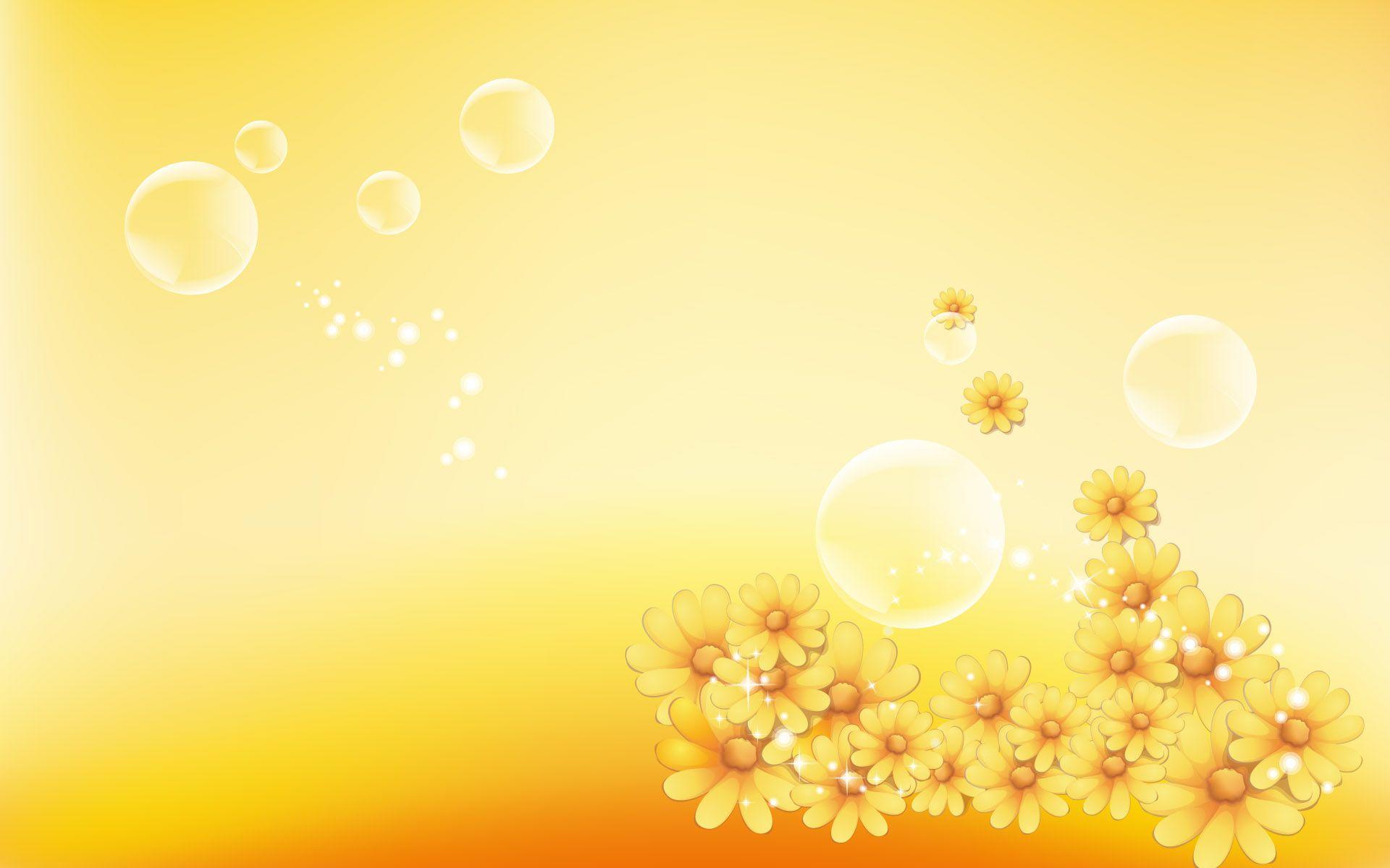 Hd wallpaper yellow flowers - Orange Desktop Background Bubbles And Flowers Misc Stuff Wallpapers Hd Wallpaper Download