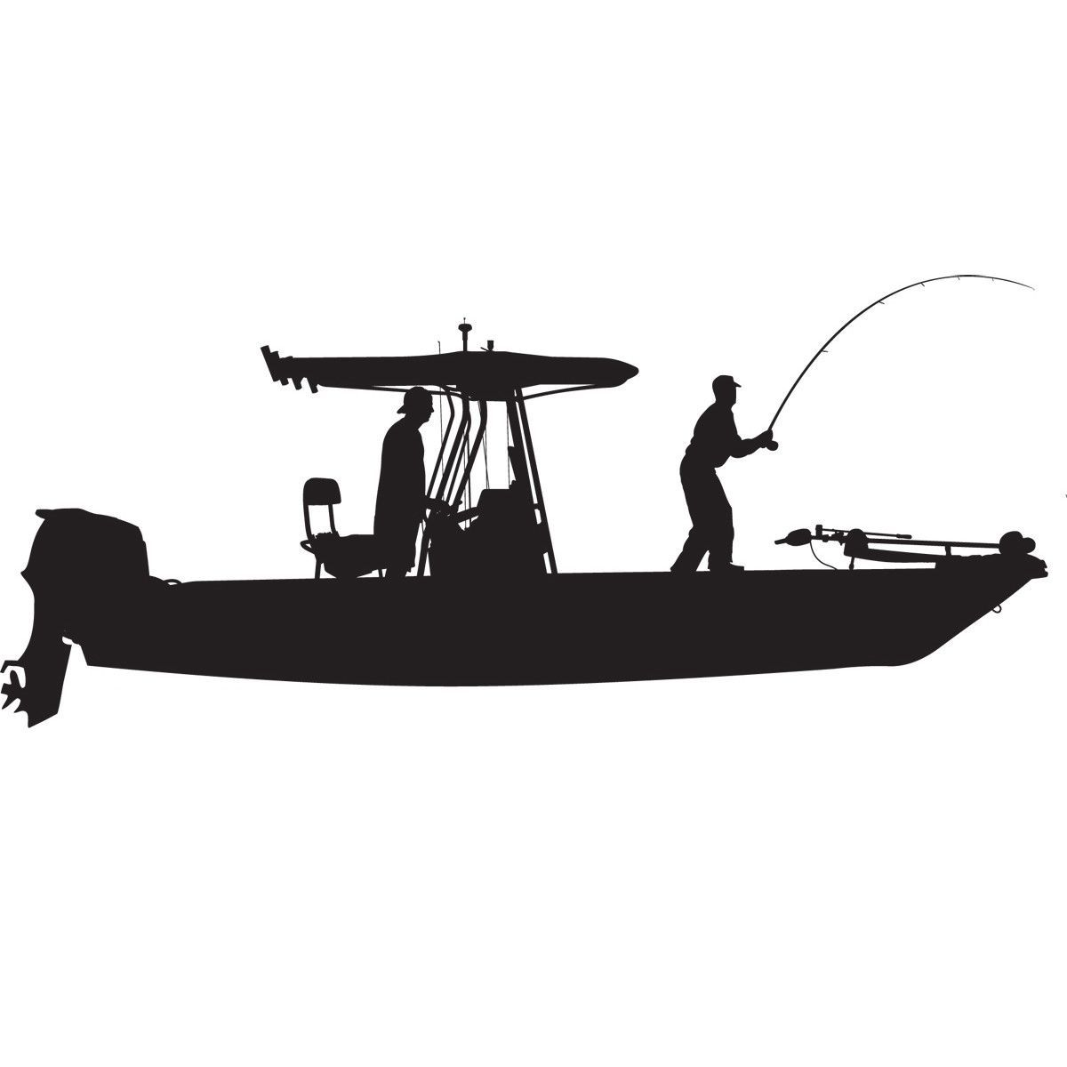 Skiff Life TTop Flats Console Fishing BoatCar Decal Stickers - Bullet bass boat decalsbass boat decals ebay