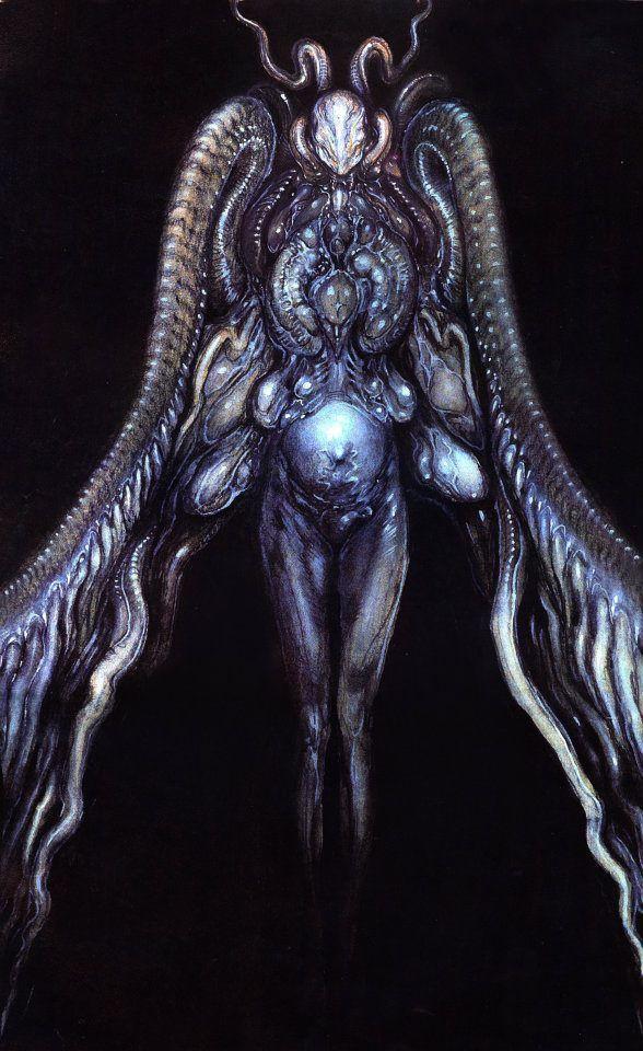 Paul Komoda What Angels Actually Look Like Creature Design Art Cool Monsters