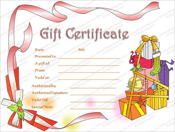 Christmas Certificates Templates For Word Mesmerizing 10 Christmas Gift Templates  Word Excel & Pdf Templates  Www .