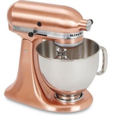 Kitchenaid Ksm152pscp 10 Speed Stand Mixer W 5 Qt Stainless Bowl Accessories Satin Copper Copper Kitchen Aid Copper Kitchen Kitchen Aid