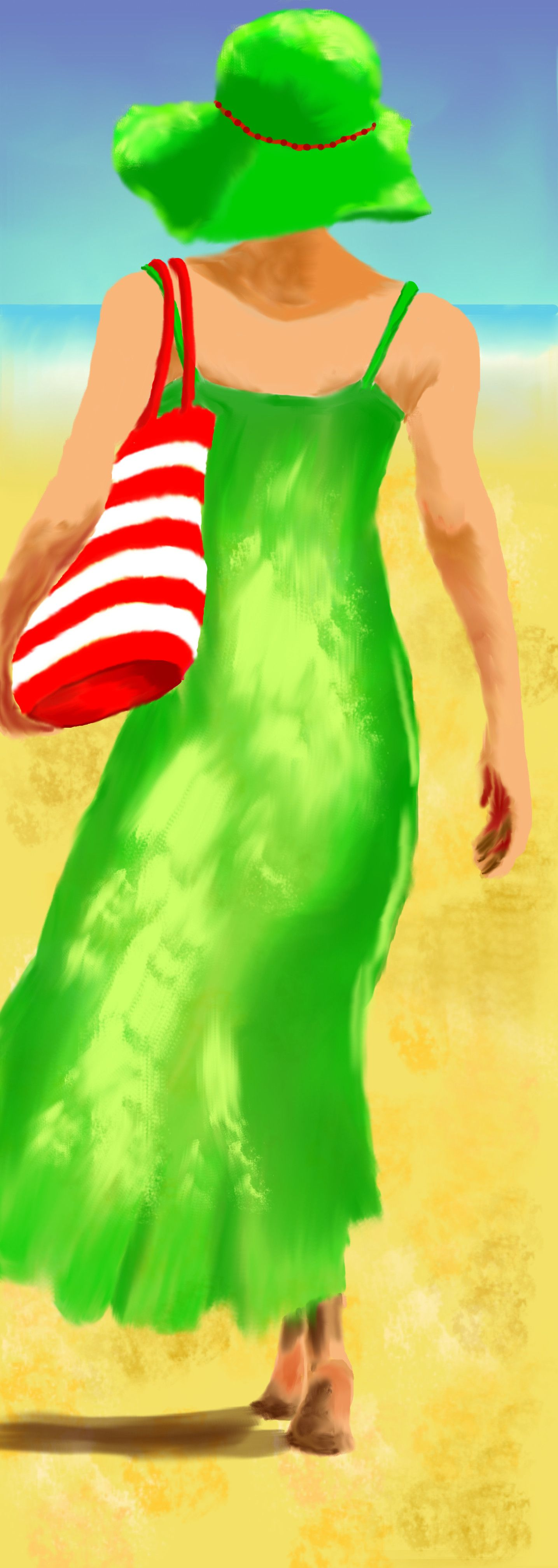 Frau Am Strand Digitale Malerei Gimp Mit Bildern Bilder