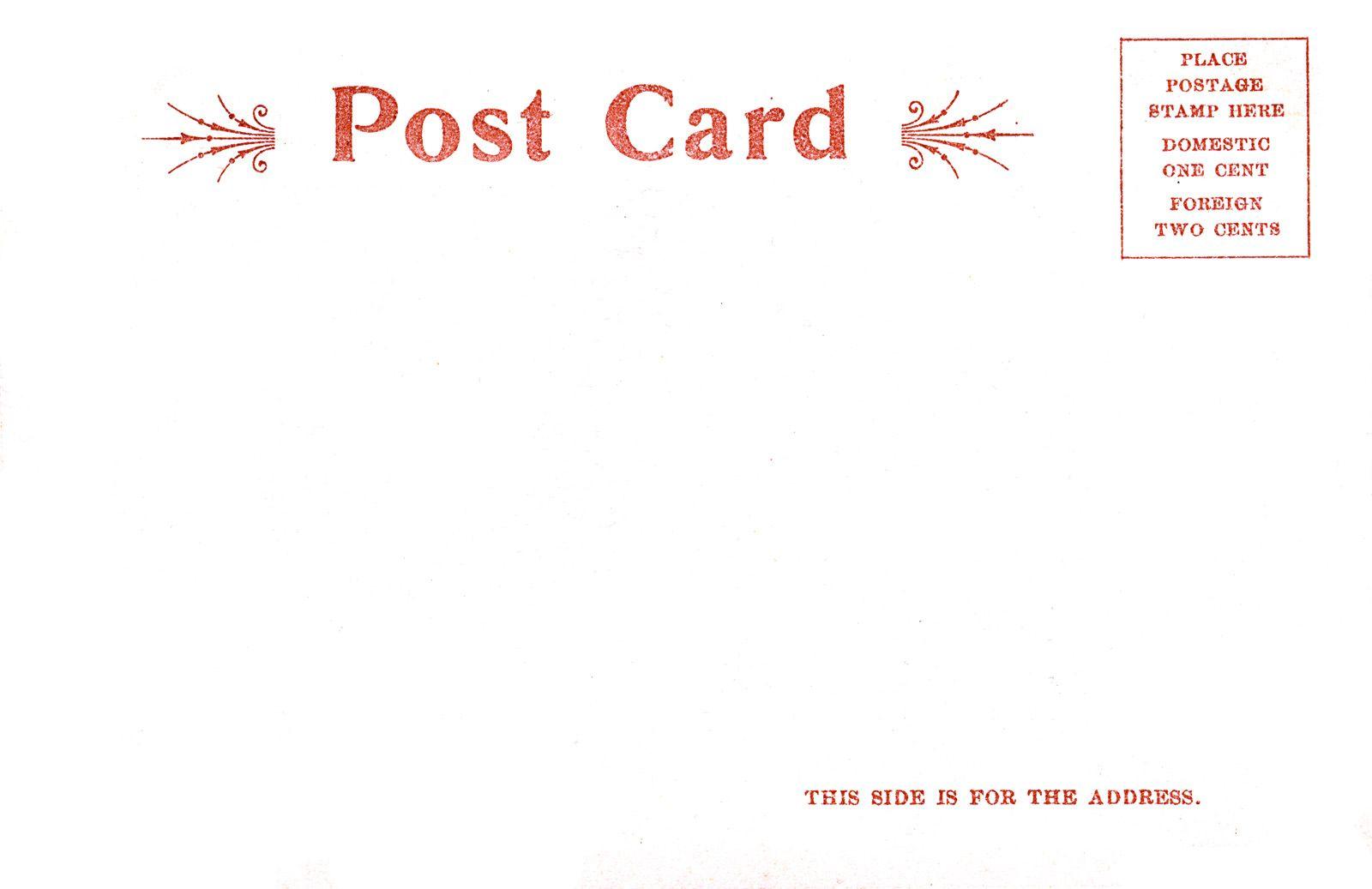 pinterest postcard backing template google search postcards
