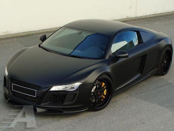 Matte Black Car Wrap >> Blacked Out Audi R8 W Matte Black Vinyl Wrap Matte Cars