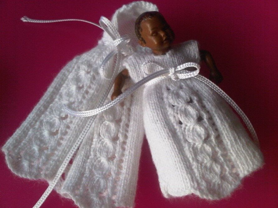 112th Scale Dress And Cloak Knitting Pattern For A Miniature Baby