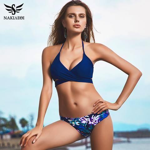 910f16d3dfa55 Sexy 2-Piece Cross Brazilian Bikini For Women in 2018