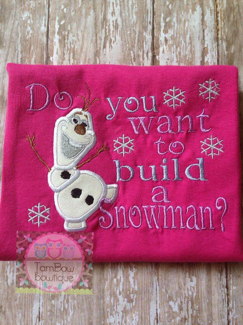 Do+you+want+to+build+a+snowman+with+Olaf+by+TamBowsbowtique,+$23.00