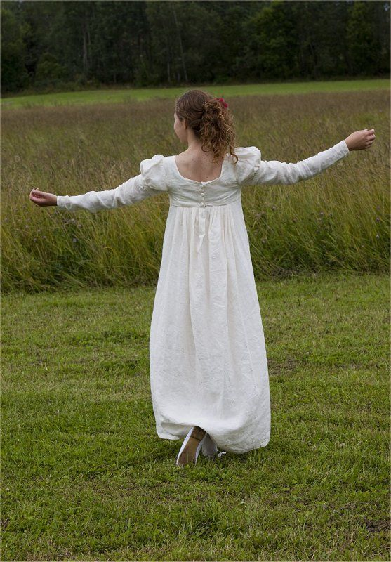 Regency Gown Pattern | Kleid nähen, Romantik und Kostüm