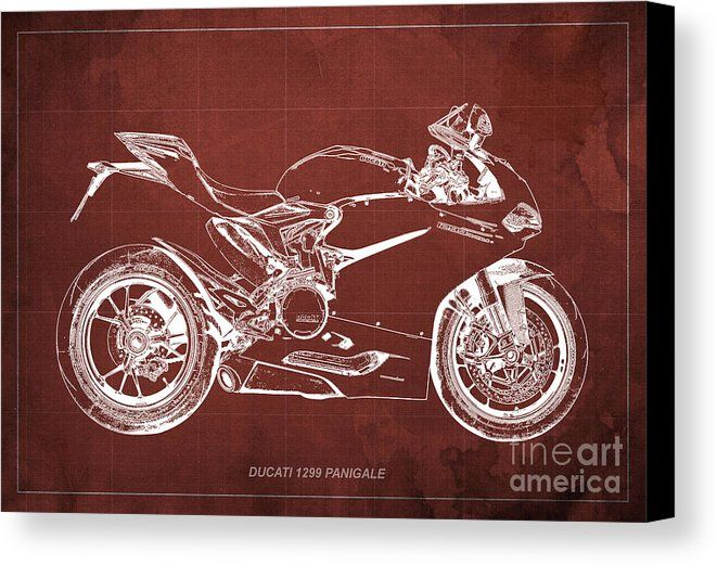 Ducati Superbike 1299 Panigale 2015, Gift For Men, Red Background - new blueprint background image