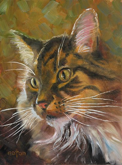 Kathleen Eaton - Bright Eyes- Oil - Painting entry - September 2015 | BoldBrush Painting Competition