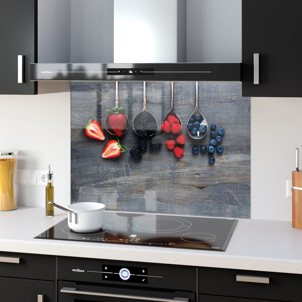 Toughened Heat Resistant Printed Kitchen Glass Splashback Red Pepper Splash