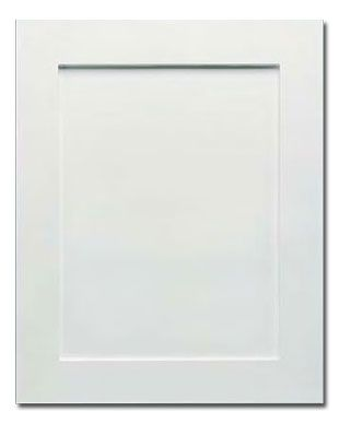 Genial 2 Piece Shaker 949 White Thermofoil Cabinet Door (RTF)