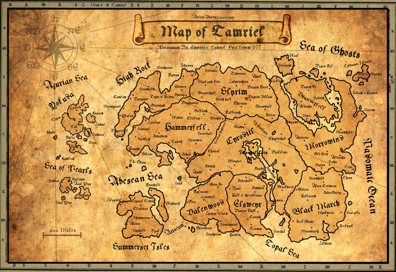 Ancient Map of Tamriel | Elder Scrolls | Pinterest | Skyrim map ...