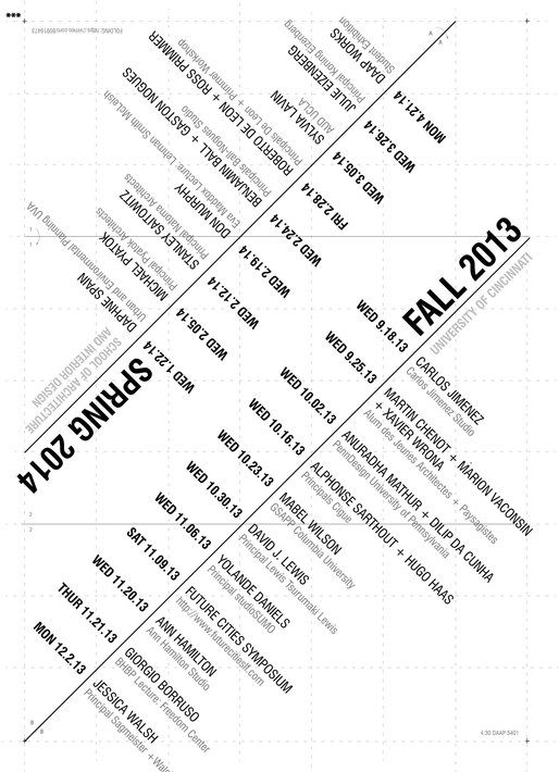 architecture school lecture guide for winter/spring 2014