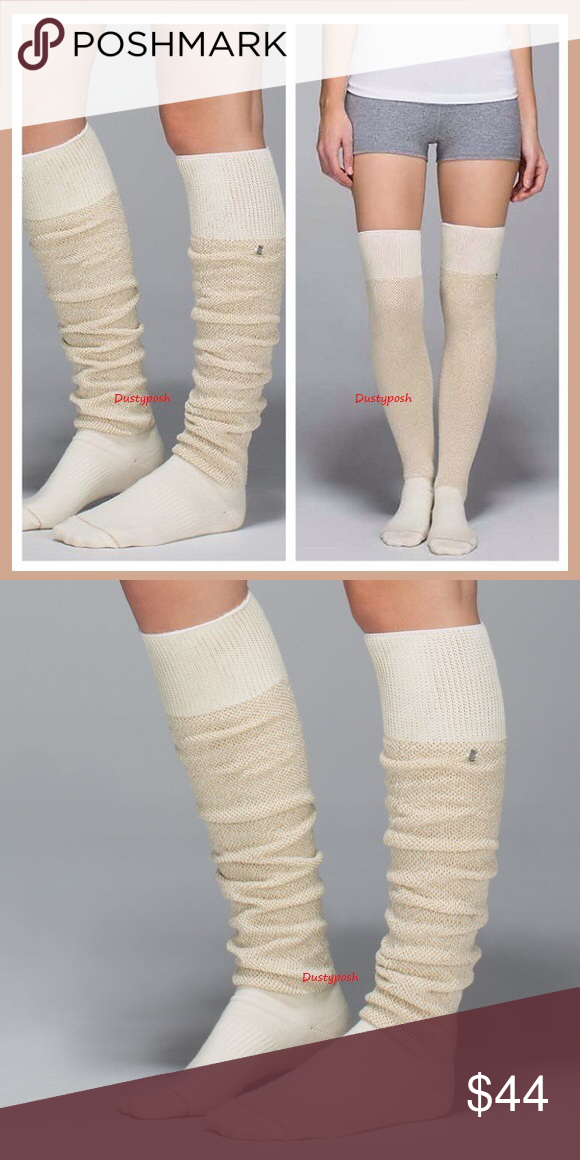 ceaef585192 Lululemon After Asana Over The Knee Socks Thigh Hi Getting up from our mat  with chilly toes can be a serious buzz kill. We like to pull on these soft