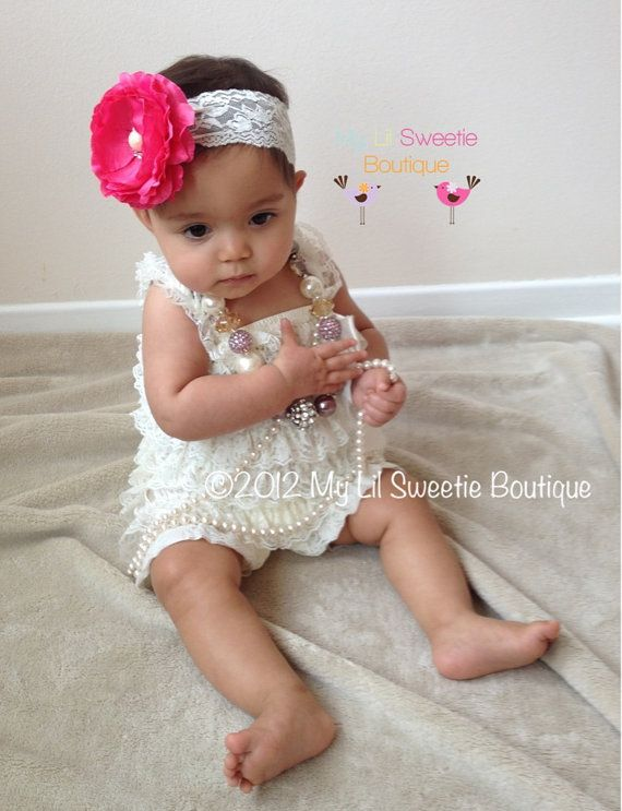 d1c8d1e44d5 Ivory Vintage Lace Petti Romper - Baby Girl outfit- Toddler outfit ...