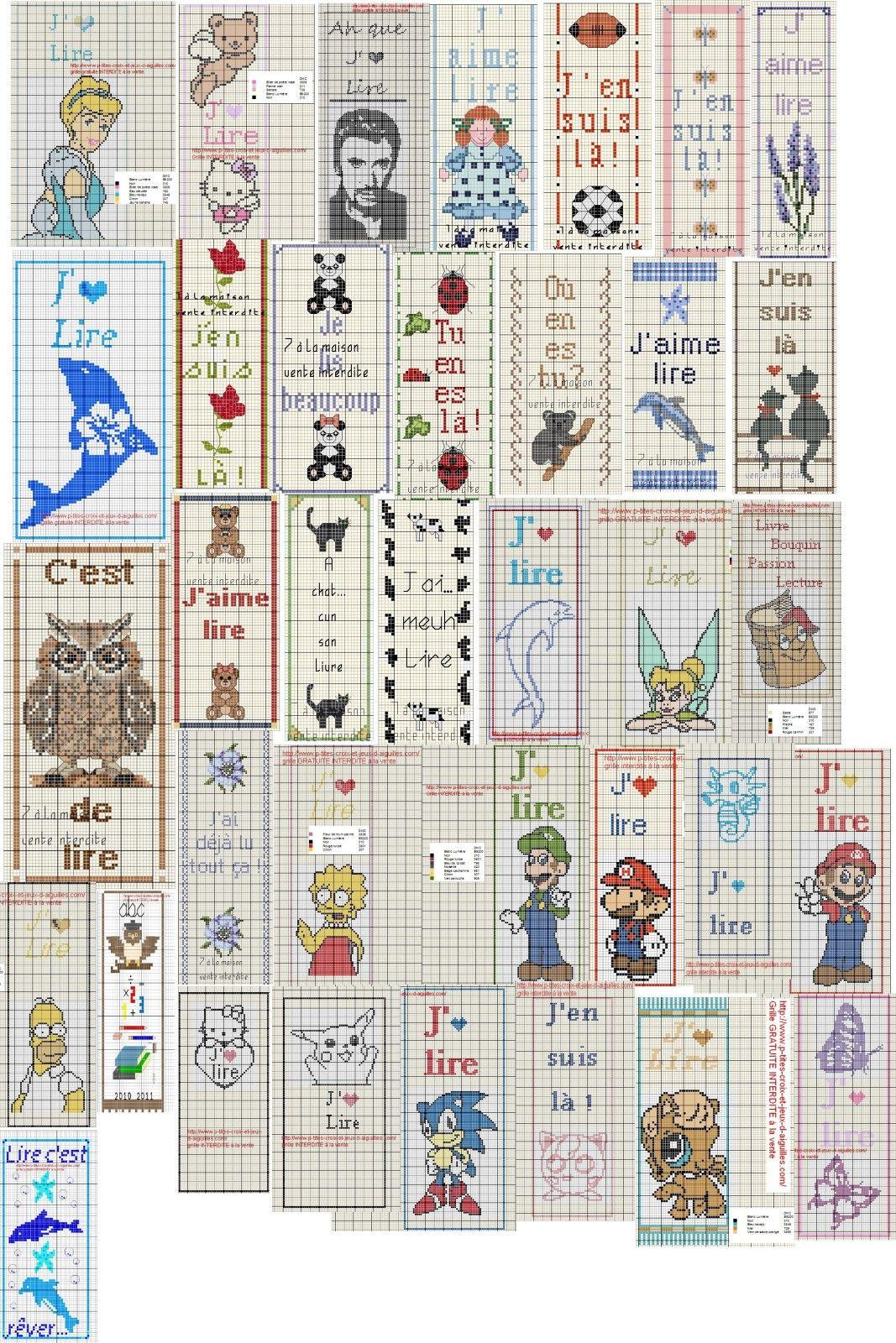 Album marque page cross stitch pinterest cross - Marque page point de croix grille gratuite ...