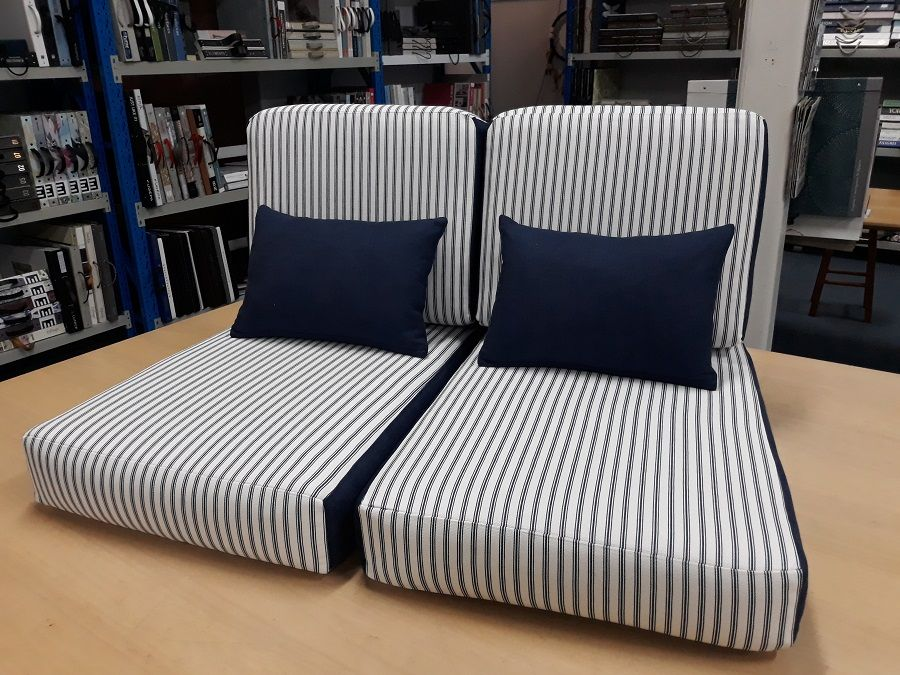 Indoor Seats and Cushions / The Ivory Tower fabric