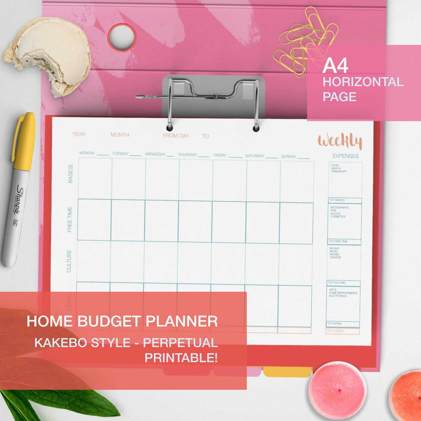 organize your home finances with this printable budget planner