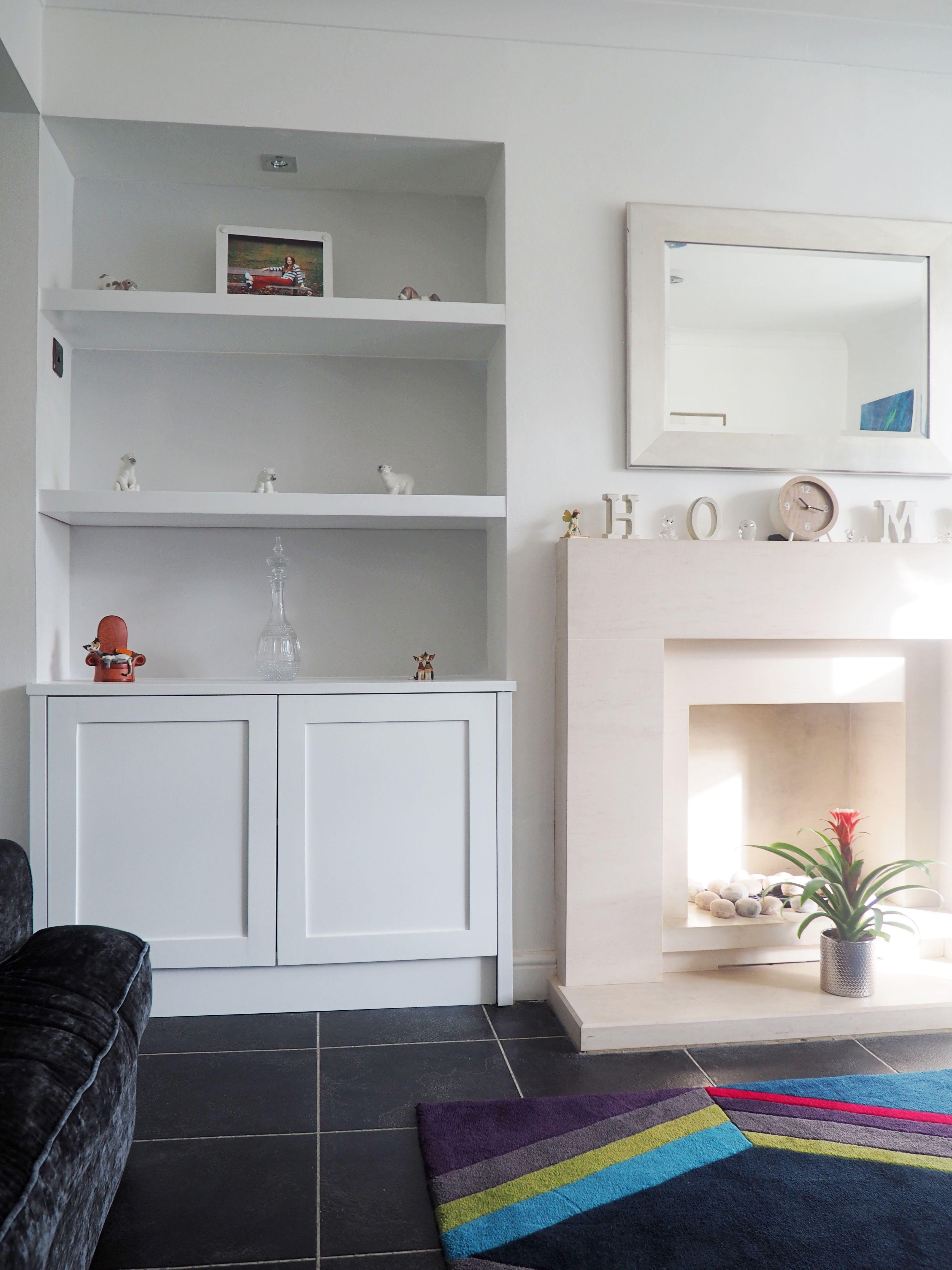 Shaker Alcove Cabinets With Floating Shelves - U Furniture Ltd ...