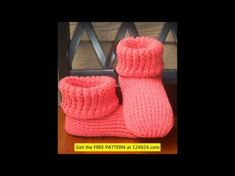 Knit Cuff Boots Loom Knit Baby Booties Boot Cuff Knitting Pattern
