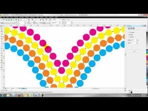Creating A Multi-color Rhinestone Template Design In Corel Draw ...