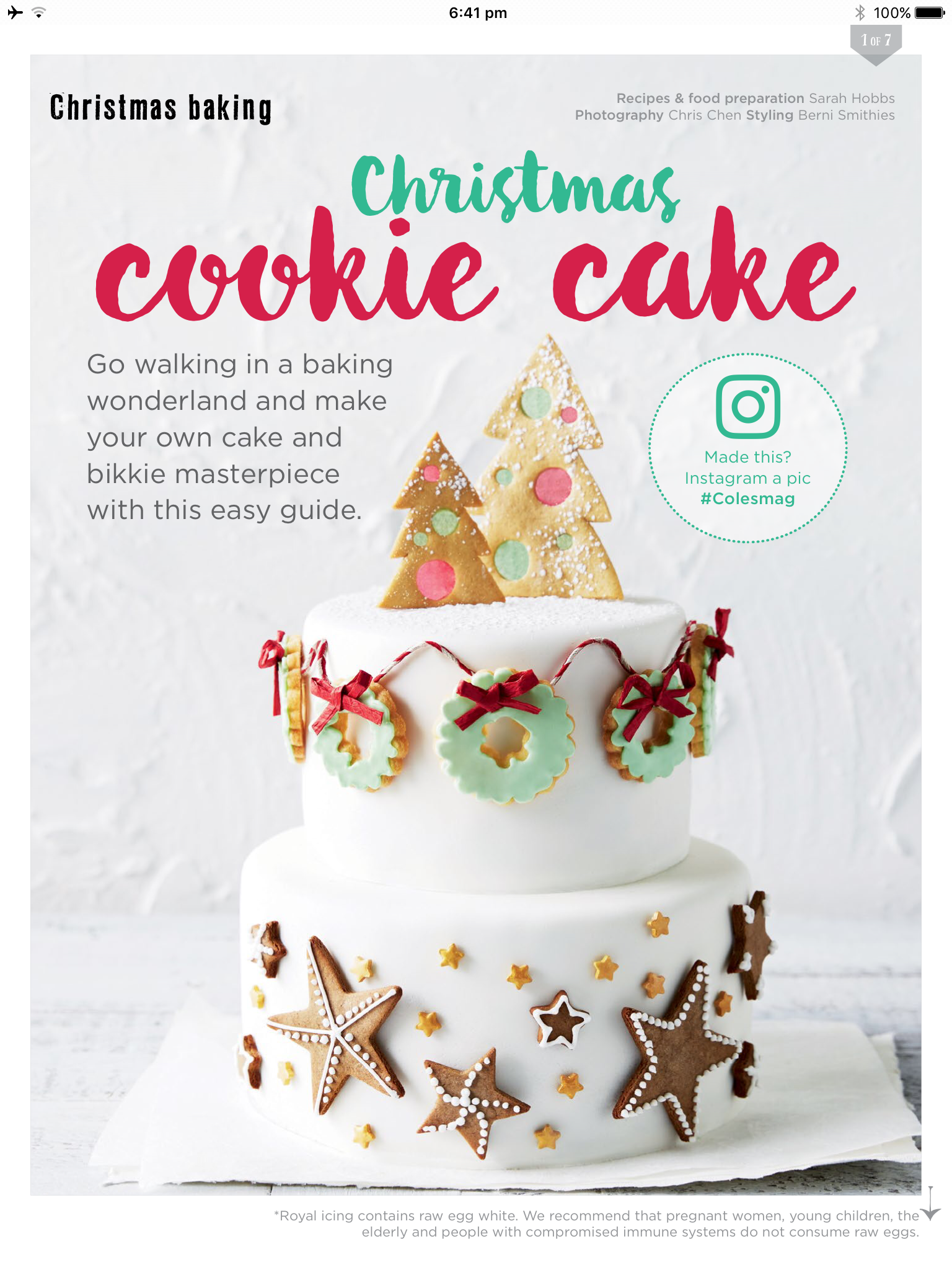 Christmas Cookie Cake From Coles Mag Dec 2016 Celebrate Christmas