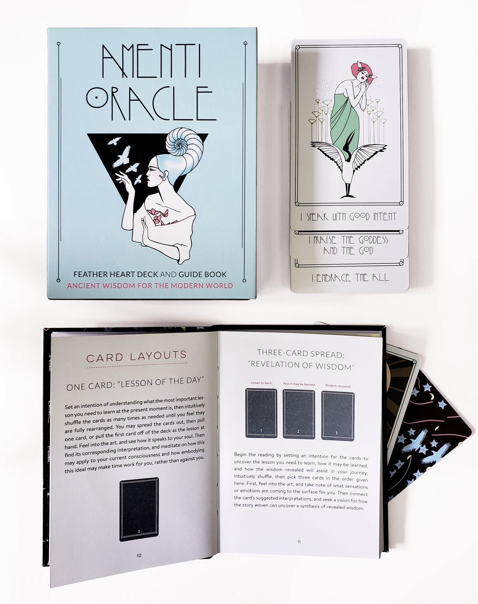 Amenti Oracle Feather Heart Deck And Guide Book Guide Book