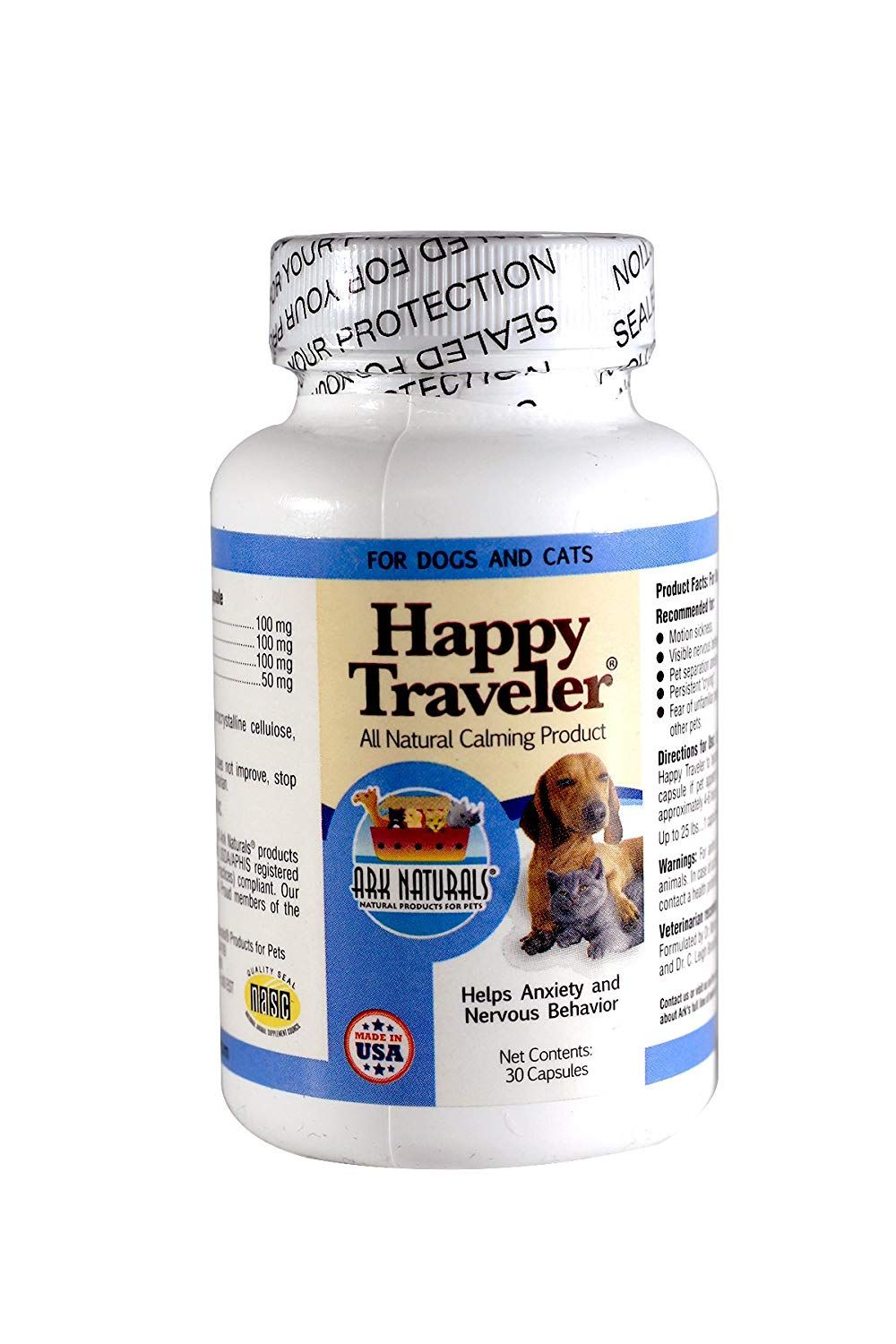 Ark naturals happy traveler for dogs and cats 30count