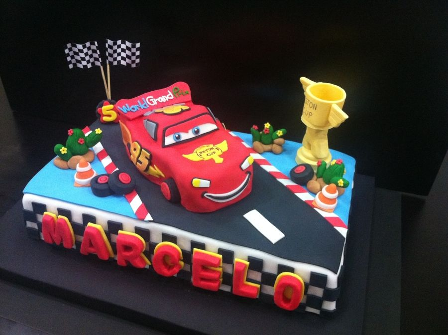 Magnificent Mcqueen Cake With Images Mcqueen Cake Cake Childrens Personalised Birthday Cards Veneteletsinfo