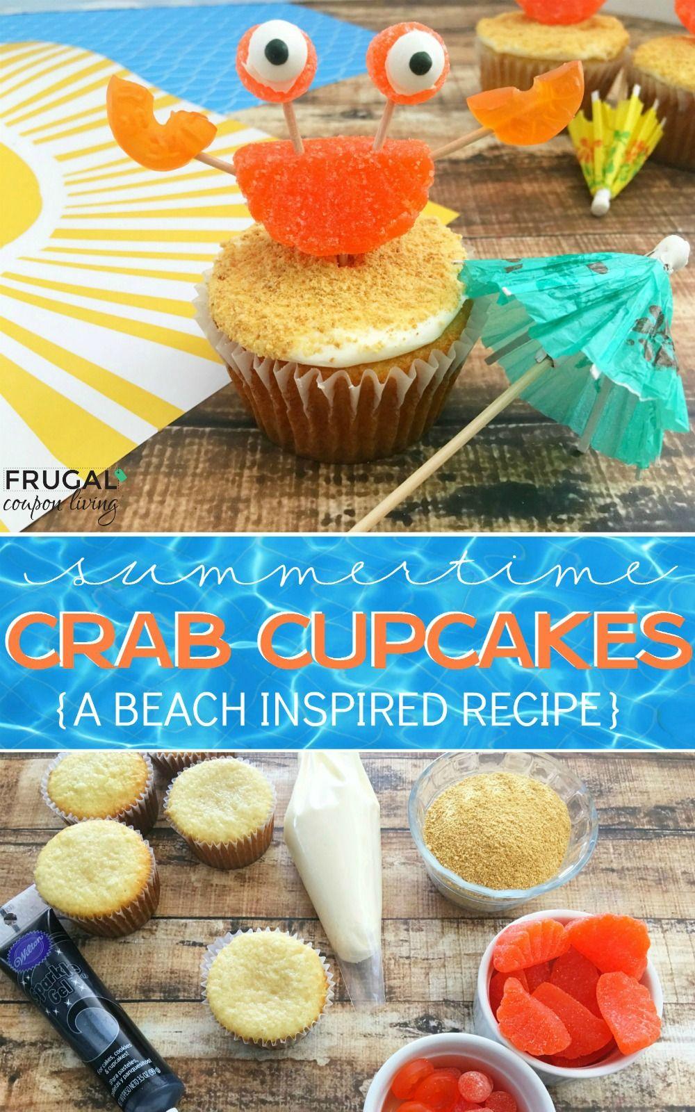 Summer Crab Beach Cupcakes Recipe Beach Cupcakes Summer