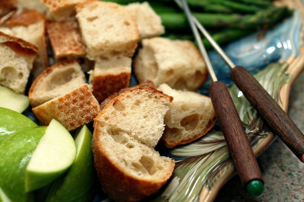 irish vintage cheddar and beer fondue sounds like a great way to celebrate St. Patrick's Day