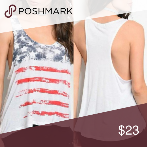 Distressed American Flag Tank Top Tank Tops Tops Tank Top Fashion