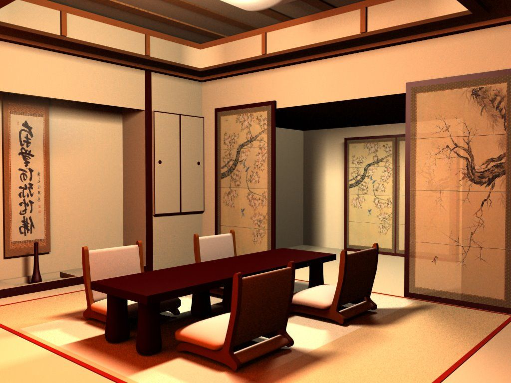 Traditional Japanese Dining Room Furniture With Images Japanese Interior Design Japanese Living Rooms Japanese
