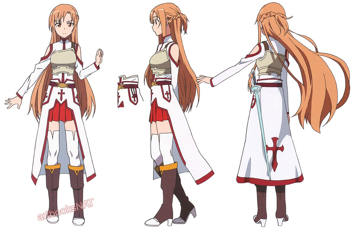 Anime Female Character Design : Artbooksnat sword art online ソードアート・オンライン a selection of