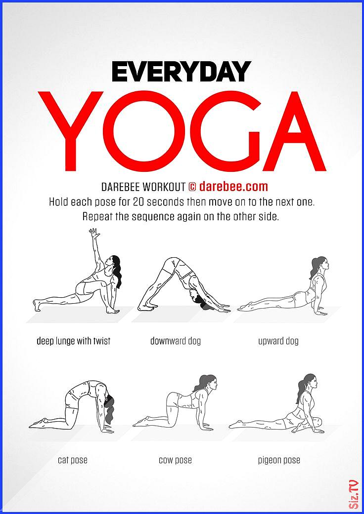 Klicke um das Bild zu sehen  Everyday Yoga Workout by DAREBEE darebee workout yoga fitness  DAREBEE...