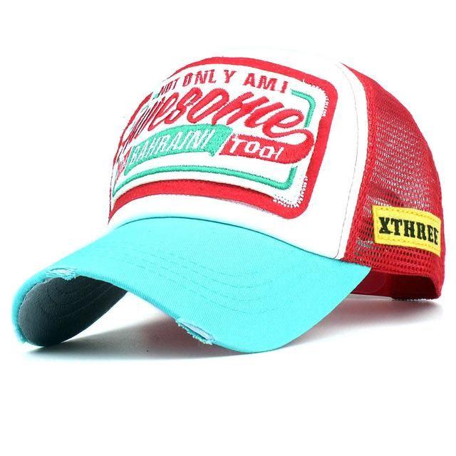 Xthree Summer Baseball Cap Embroidery Mesh Cap Hats For Men Women Snapback Gorras  Hombre hats Casual 706ebd19bfd6