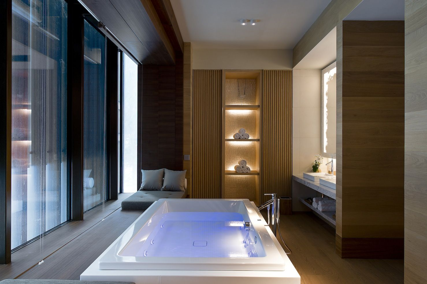 Luxushotel Badezimmer Spa Suite Bathroom At The Chedi Andermatt Swiss Alps