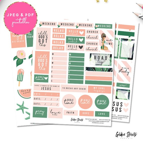 80% OFF! Weekly Planner Bible Journaling Printable Stickers