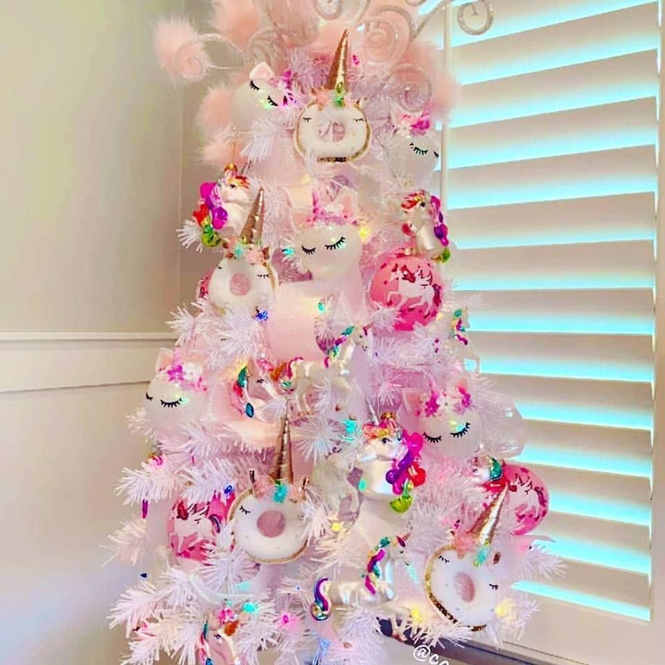 Unicorn Christmas Tree Pink Christmas Pink Christmas Tree Decorations Pink Christmas Tree