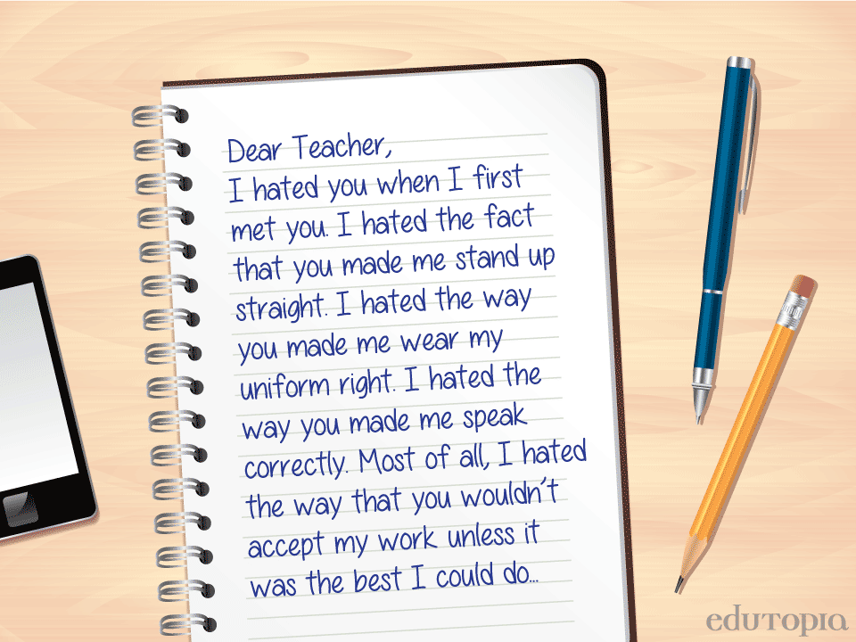 how to write a letter to teacher about unfairness