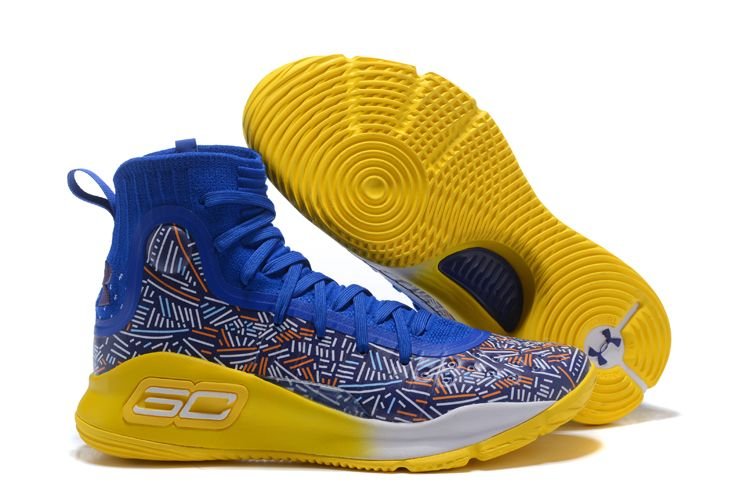 2018 Under Armour Curry 4 Royal BlueYellowWhite Discount