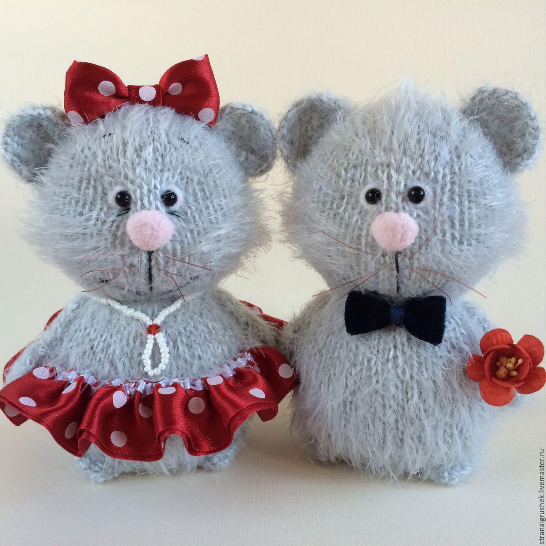 Купить Мышкины. - серый, мышки, вязаные игрушки, вязаная ...