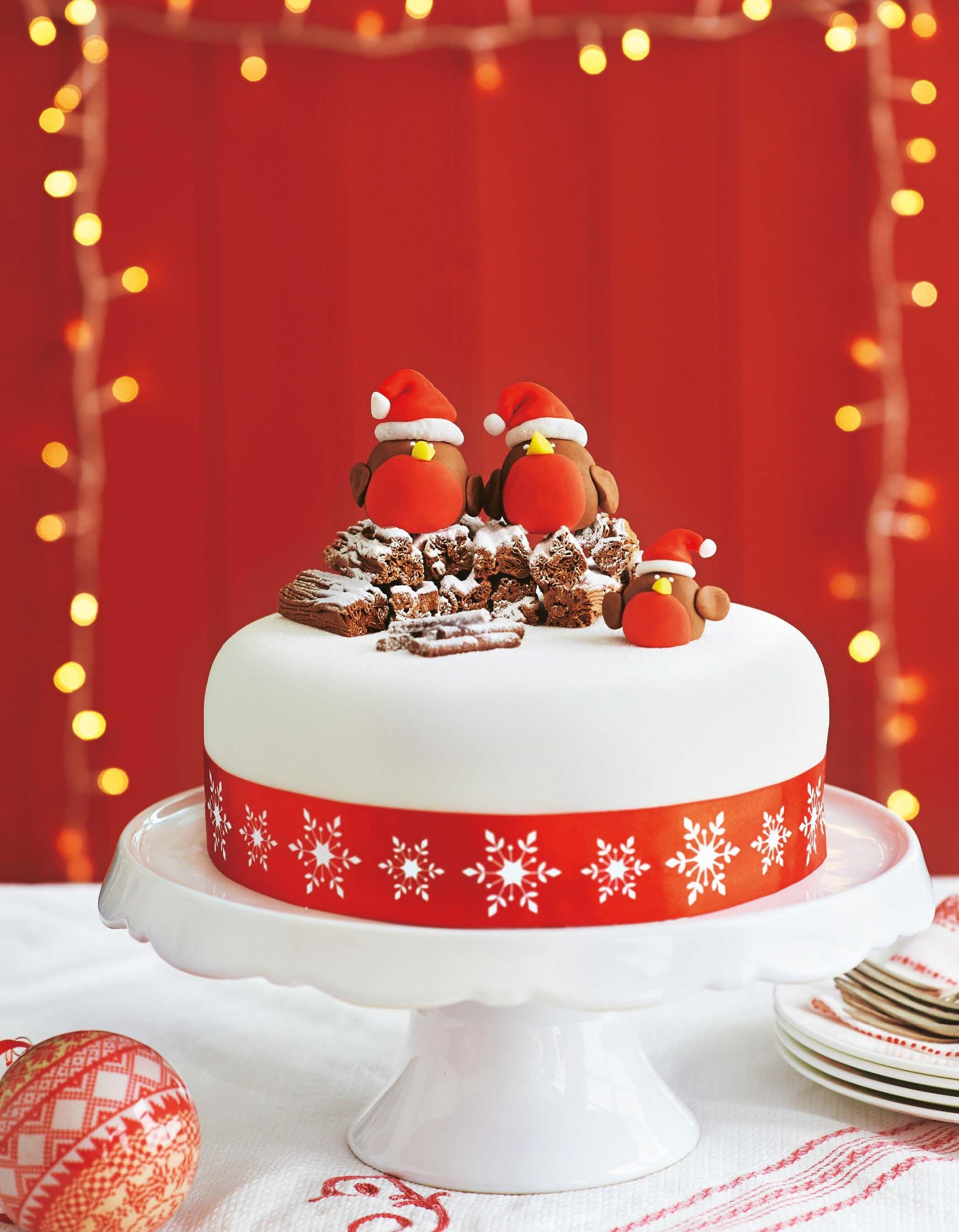 Asda Photo Cake Decorations : Asda Magazine - December 2013 Robins, Cake and Xmas