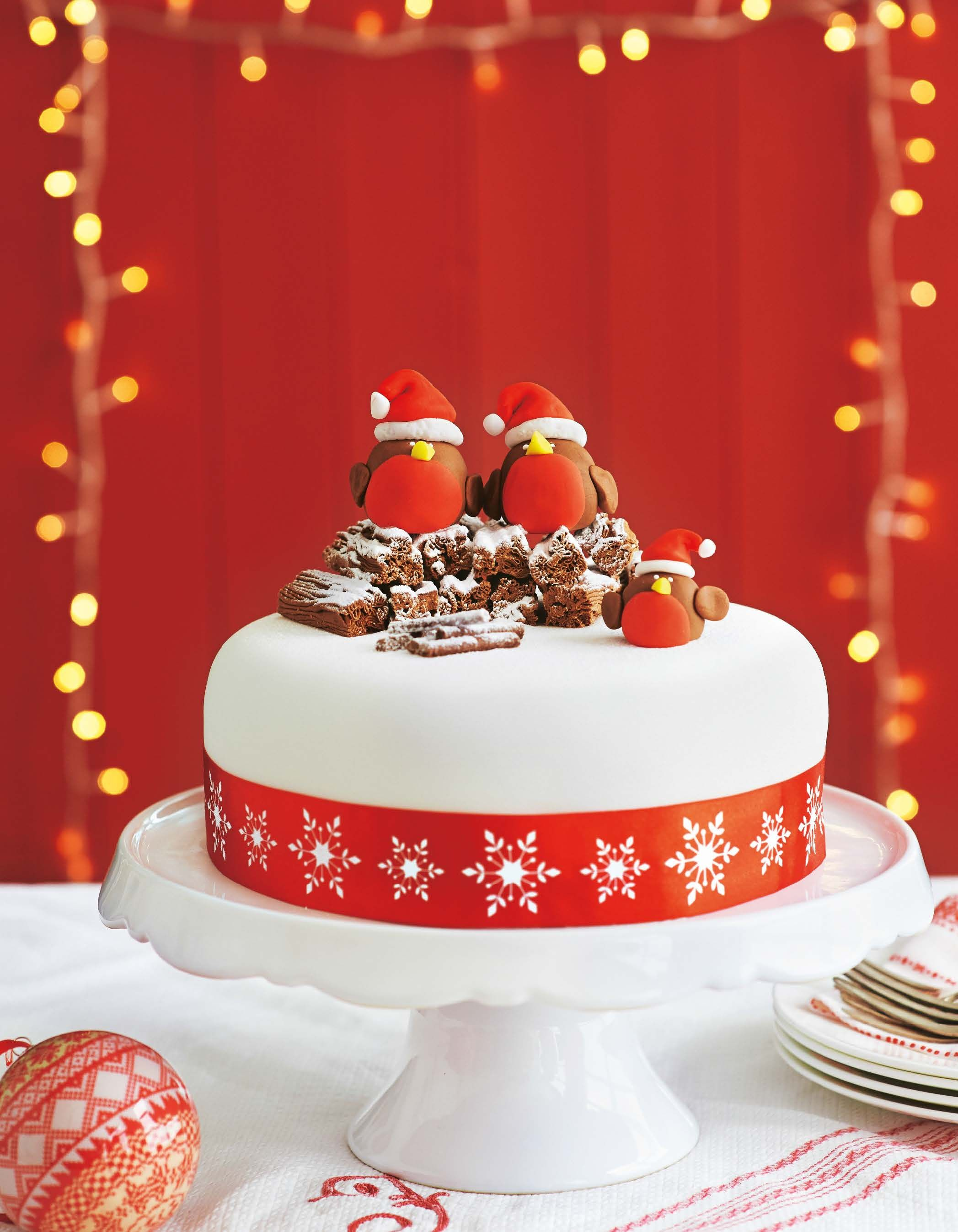 Asda Magazine December 2013 Christmas Pinterest Robins Cake