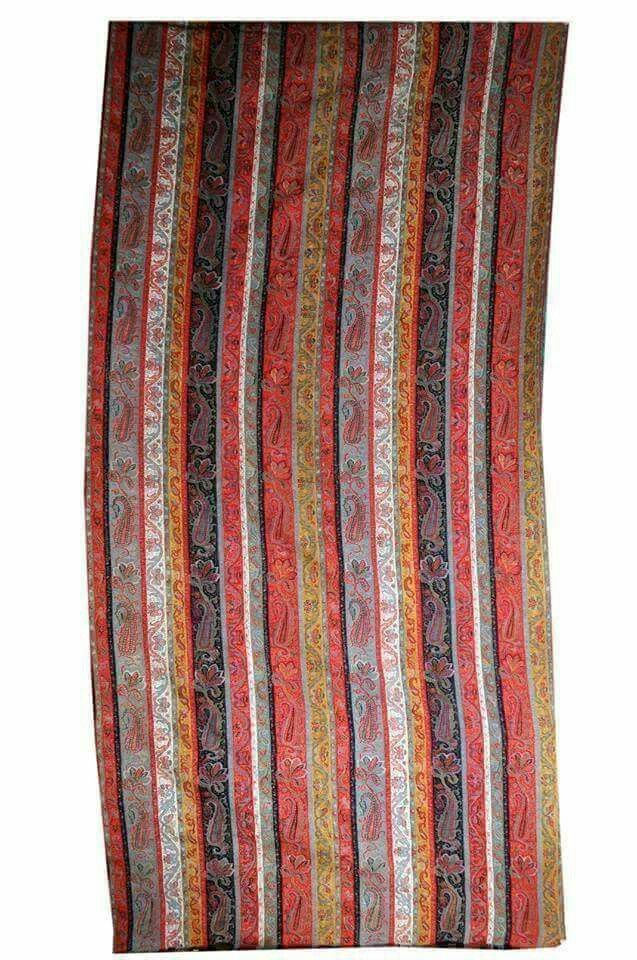 Antique Stripe Shawl Kashmiri Shawls Striped Shawl Paisley Shawl